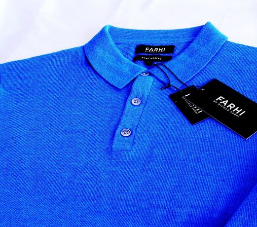 Koszulka polo L merino niebieska sweter hilfiger swetr eton miler susu