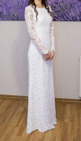 Suknia ślubna - rozmiar 34, wzrost 174cm + 9 cm obcas