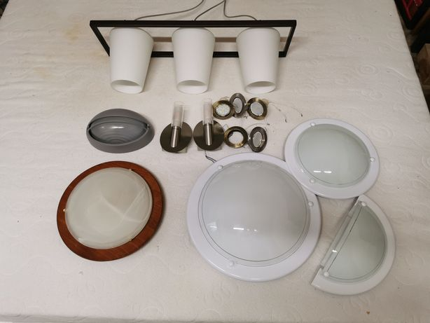 Lampa lampy kinkiety plafony zestaw