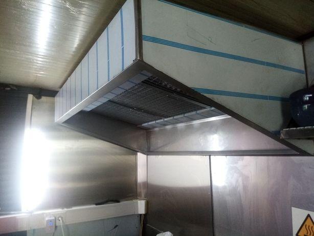 HOTTE INOX | Exaustor Industrial Fumos | Extrator Cozinha Restaurante