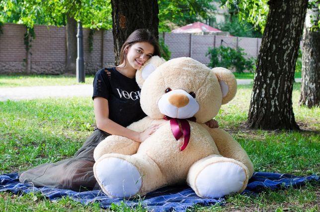 Мишка большой плюшевый мягкий ведмедь на подарок девушке