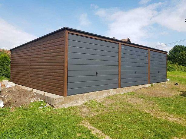 Garaż 3-stanowiskowy Garaże Drewnopodobne Siedlce Ostrów Mazowiecki