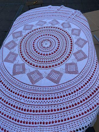 Toalha em crochet linha grossa