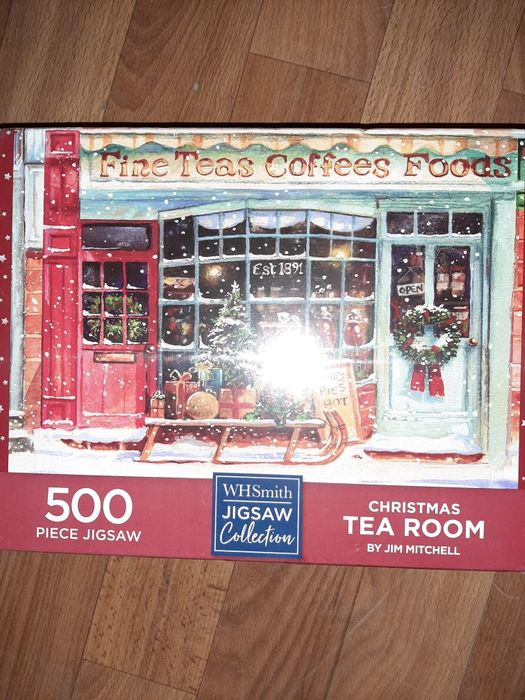 WHSmith Christmas Tea Room 500 Piece Jigsaw Puzzle 49 X 34.3 Киев - изображение 1