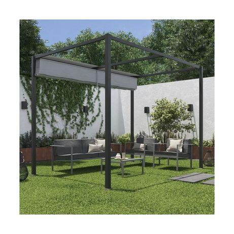 Pawilon ogrodowy 2 x 3 m HORALI szary NATERIAL
