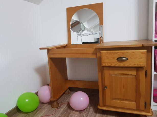 Toaletka z lustrem 2w1 biurko