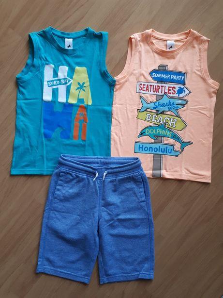 Zestaw na lato C&A roz.128# koszulki bez rękawów