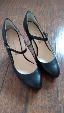 buty damskie czarne szpilki czółenka rozmiar 38 skóra naturalna