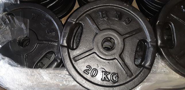 Obciążenia olimpijskie 2x20kg fi 51mm Hes