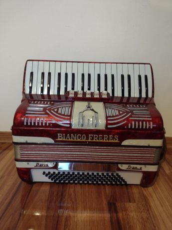 Akordeon Bianco Freres PARIS FRANCE 80 basów.Okazja!