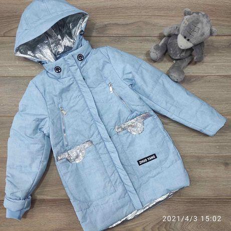 Весенняя куртка парка для девочек 9-12 лет