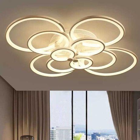 Lampa sufitowa plafon koła ring biały LED