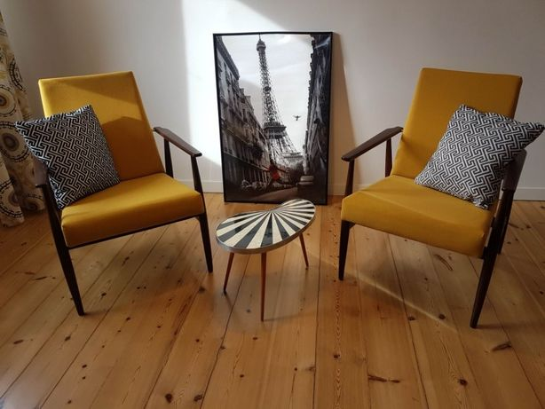 Fotel klubowy PRL lisek - autor Hanna Lis lata 60-70 vintage loft