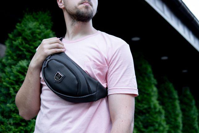 Поясная сумка бананка Philipp Plein Hollow на груди через плечо пояc