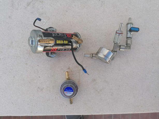 Bomba de gasolina elétrica com manómetro