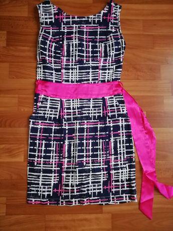 Платье женское в клетку размер 46