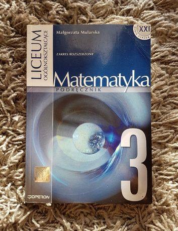 """Podręcznik """"Matematyka 3"""" Zakres rozszerzony OPERON"""