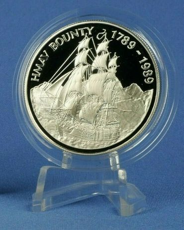 1989 Остров Питкерн 1 доллар 1989 Серебро 925 PROOF Красота!