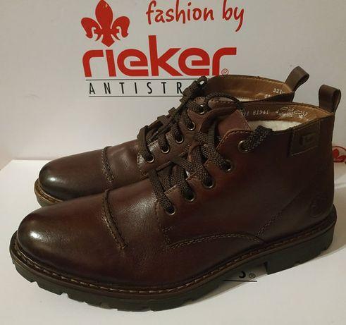 зимние ботинки Rieker, кожа, шерсть, 41 р