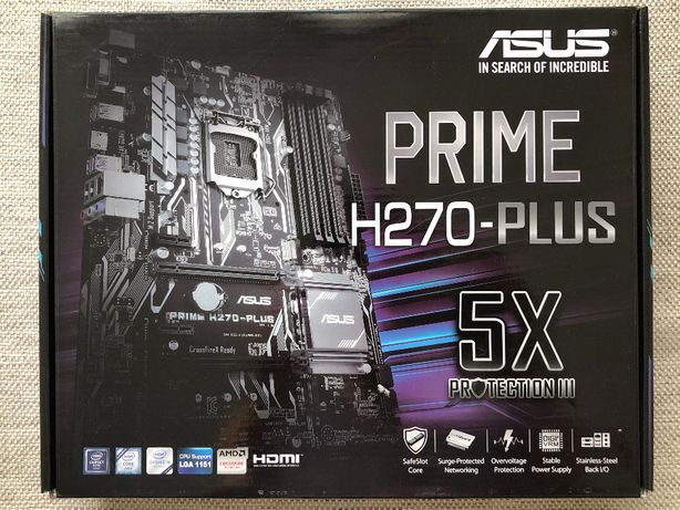 Материнська плата Asus Prime H270-Plus 1151 (8 відеокарт) BTC, майнинг