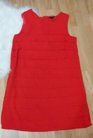 Czewona sukienka H&M rozm 36 w stylu lat 60'tych