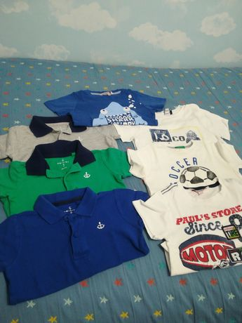 Lote 7 T-shirts menino 2 anos - Bom estado