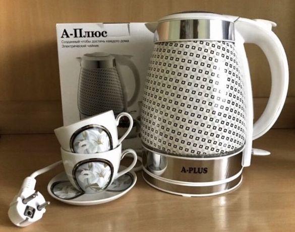 Электрический керамический чайник 2 л с уникальным дизайном новый Киев