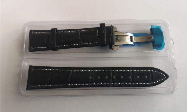 Pasek do zegarka skórzany 21 mm zapięcie motylkowe do Orient Bambino
