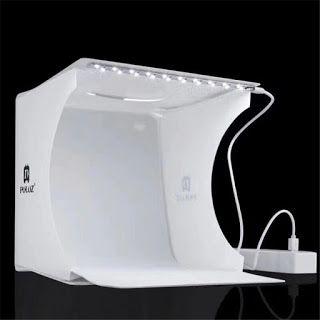 Kit Mini Estúdio de Fotografia com Luz LED e Telas varias cores NO