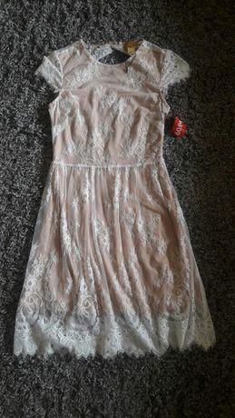 Sukienka H&M koronka roz 36