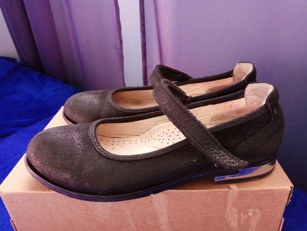 Туфли кожаные, школьные р.33 (22,5см)