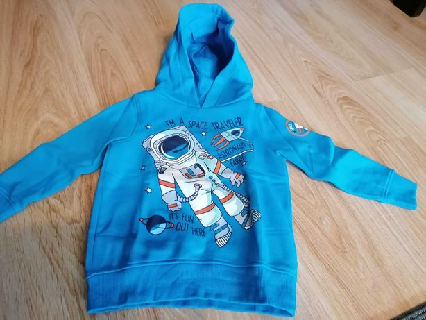 Bluza z kapturem z astronautą, 104cm C & A.