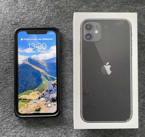 iPhone 11 128 GB Czarny - PL dystrybucja, etui, pudełko