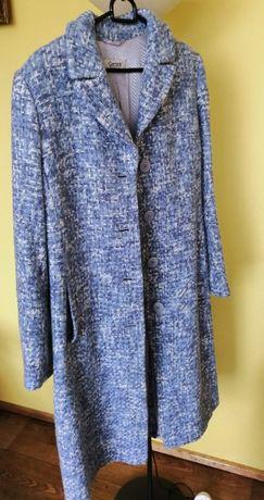 Wełniany płaszcz niebieski/błękitny rozmiar 40 stan idealny