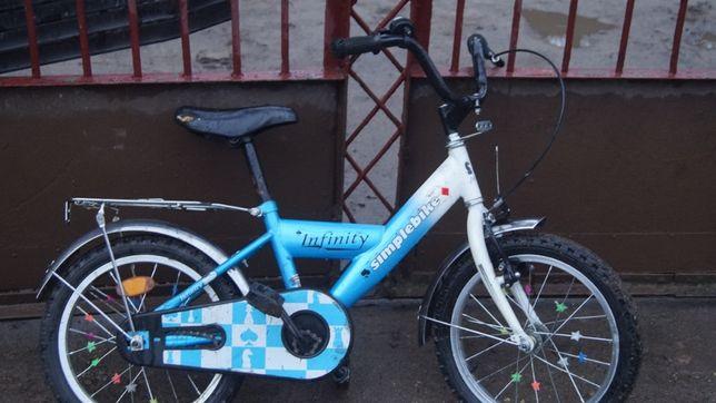 """""""Rower rowerek dziecięcy 16 infinity simplebike niebieski stan super"""
