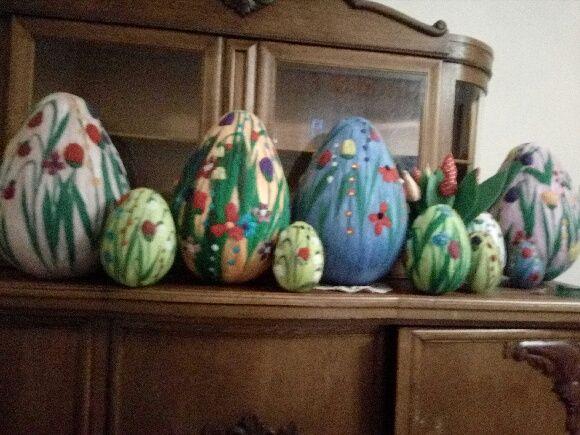 Jajka wielkanocne z wełny czesankowej • Rękodzieło