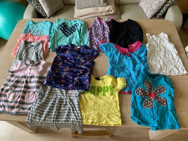 komplet bluzeczek dla dziewczynki