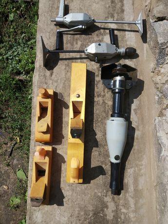 Инструменты СССР (рубанки, дрели, пневмозачистная машинка)