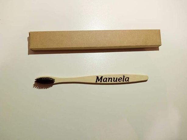 Escova de bambu personalizada