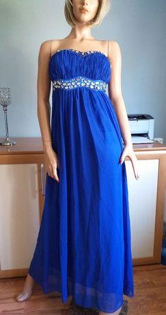 Długa sukienka niebieska S