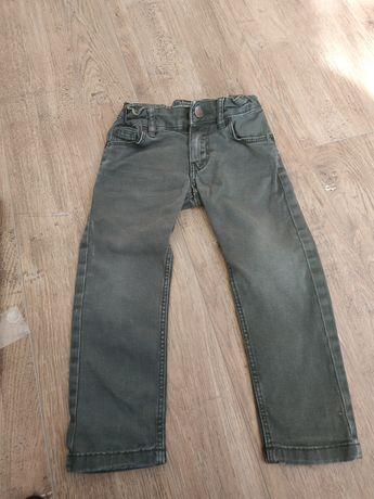 Spodnie jeansowe, khaki, r 92