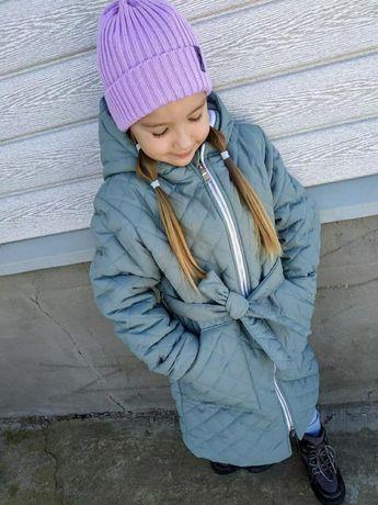 Пальто стеганное демисезон для девочки