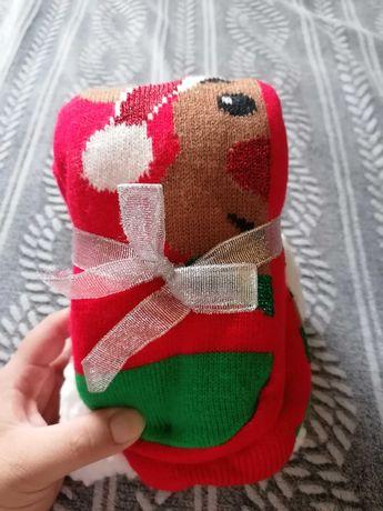 Nowe, ciepłe skarpety świąteczne idealne na prezent