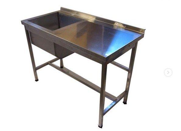 Стол-мойка с ванной , столы из нержавеющей стали В НАЛИЧИИ и под заказ