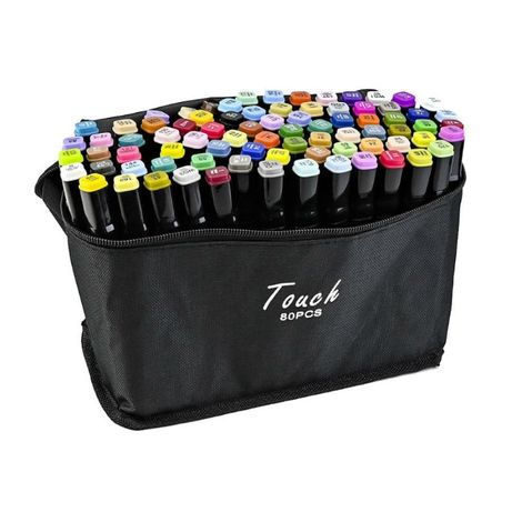 Набор скетч маркеров для рисования Touch Raven 80 шт./уп. двусторонние