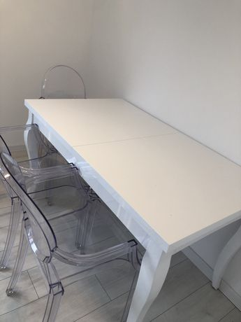 Stół wysoki połysk biały