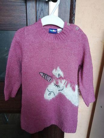 Tunika swetrowa z jednorozcem lupilu 86/92