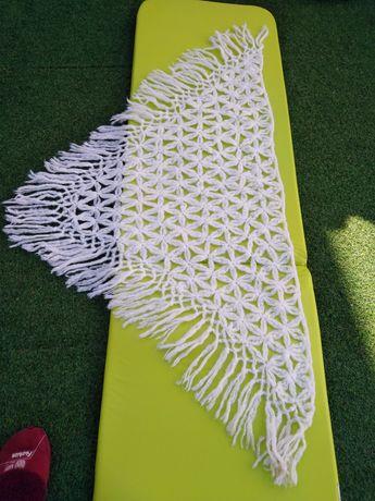 Xaile de Lã feito à Mão + Casaco de Malha feito à Mão
