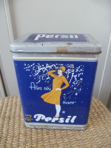 stara puszka blaszana Persil