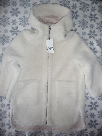 Zara Płaszcz ze sztucznego baranka XL